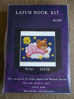 "Latch Hook Cushion Kit  "" Care Bear"" New"