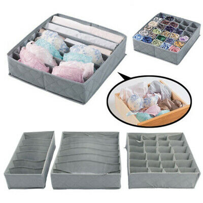 3pcs Storage Drawer Divider Box Tidy Socks Bra Underwear Organiser Case Set Hot