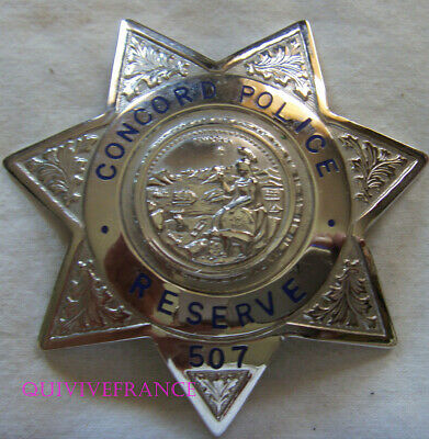 IN13707 - Obsolete Concord California RESERVE Police BREAST BADGE