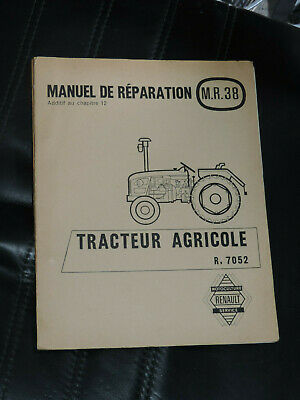 Manuel de réparation MR 38 ADDITIF  RELEVAGE HYDRAULIQUE tracteur renault R 7052