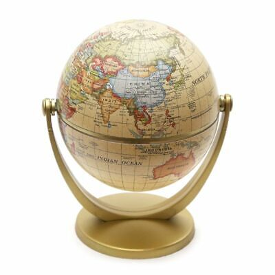 Vintage English Edition Globe World Map Earth Globes with Base Home Decoration