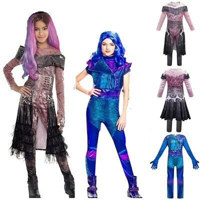 Girls Descendants 3 Costume Jumpsuit Party Birthday Halloween Outfit Fancy Dress