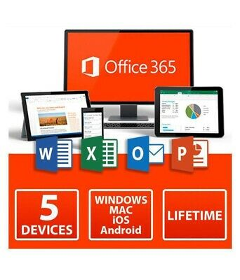 INSTANT MICROSOFT OFFICE 365 🔥 LIFETIME License🔑 / 5 DEVICES 5TB MAC/WIN Key🔑