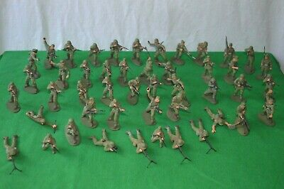 Airfix Various Army Soldiers Plastic Figures 1/32 Scale  Qty 47