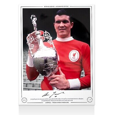 Ron Yeats Signed Liverpool Photo - 1966 Division One Champion Autograph