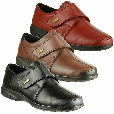 Womens Cotswold Cranham Smart Waterproof Leather Touch Fasten Shoes Sizes 4 to 8