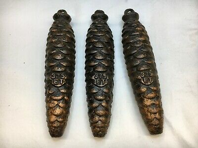 Set of 3 Old Used German Black Forest Cuckoo weights 375 grams