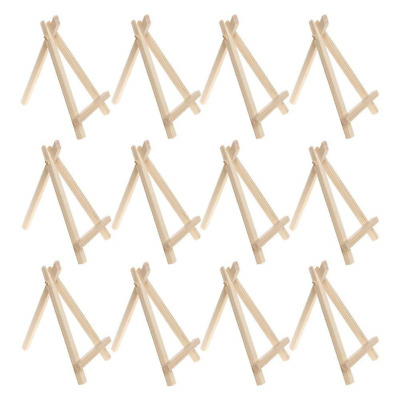 12 Pieces Wood Display Easel, Sicai 6 Inch Wedding Place Name Holder Menu Board