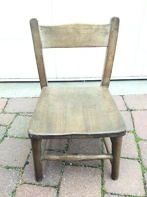 1950s Child's School Chair.Possibly beech wood. Original unrestored condition.