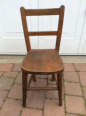 1950s Child's School Chair possibly Beech Wood. Original unrestored condition.
