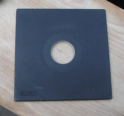 genuine Sinar F & P  lens board panel with copal 0 34.7mm hole