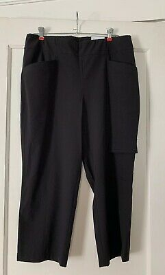 Chico's Women's Zenergy Black Cropped Pants Lounge Size 2 NWT 🌞