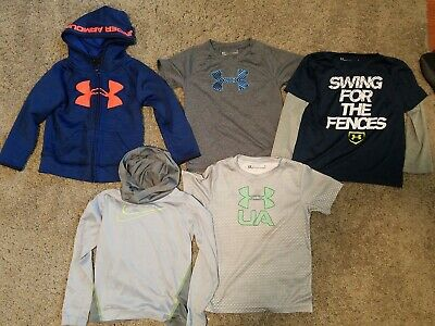 Toddler Boys Under Armour Nike Shirt Hoodie Lot Size 4 4t