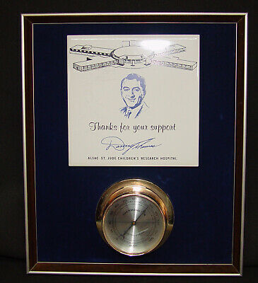 "1960's Danny Thomas St. Jude Hospital Ceramic Tile & Thermometer ""Thanks Plaque"""