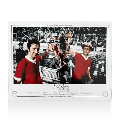 Jimmy Case Signed Liverpool Photo - 1977 European Cup Winner Autograph