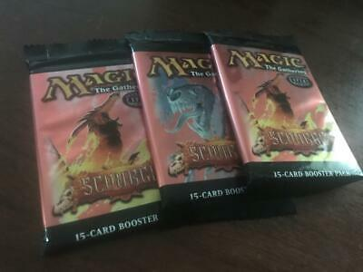 Scourge Booster Pack Lot of 3 Sealed Packs Magic the Gathering MTG