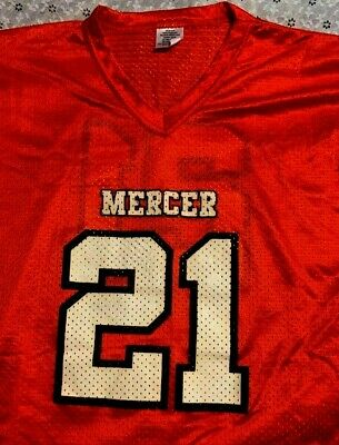the latest 20d3c c8f0d VINTAGE MERCER UNIVERSITY BEARS MESH FOOTBALL JERSEY MEN'S L large MACON  GEORGIA