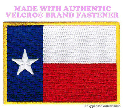TEXAS STATE FLAG PATCH EMBROIDERED TX SYMBOL APPLIQUE w/ VELCRO® Brand Fastener