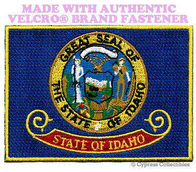 IDAHO STATE FLAG PATCH EMBROIDERED SYMBOL APPLIQUE w/ VELCRO® Brand Fastener