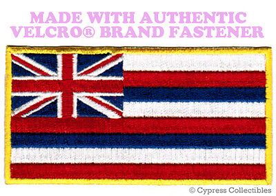 HAWAII STATE FLAG PATCH EMBROIDERED HAWAIIAN ISLANDS w/ VELCRO® Brand Fastener