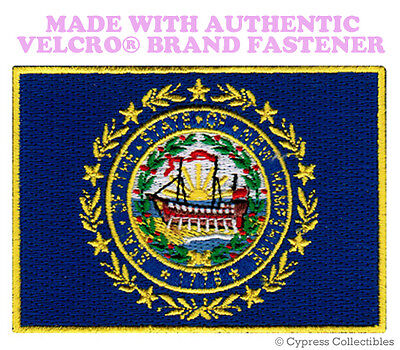 NEW HAMPSHIRE STATE FLAG PATCH EMBROIDERED APPLIQUE w/ VELCRO® Brand Fastener