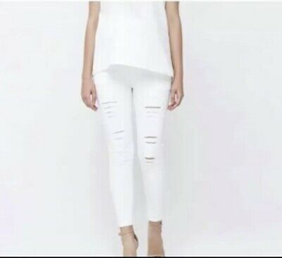 White Ripped Maternity Jeggings All Size