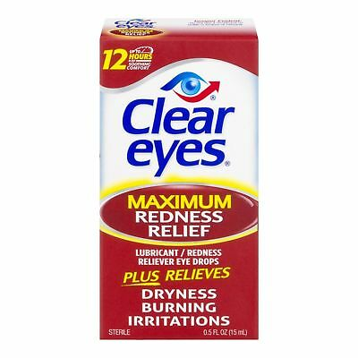 New Clear Eyes Maximum Redness Relief Eye Drops 0.5 Fl. Oz