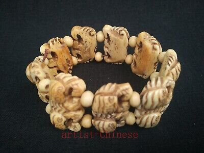 Collection Old China Hand Carving Vivid Crab Statue Bracelet Trinket Decoration
