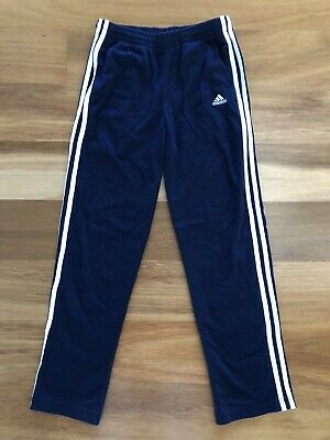 ADIDAS Boys Sz 12 TRACKPANTS Trackies Track Pants Blue - Great condition as new.