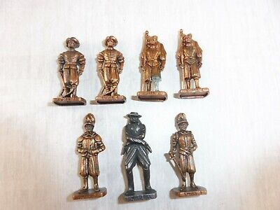 Lot d'anciennes figurines Kinder métal, gardes suisses Swiss +Wild Bill, vintage