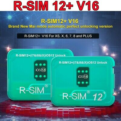 R-SIM12+ V16 NEW Nano Unlock Card RSIM fr iPhone XS/X/8/7/6 Plus 4G iOS 12.4 Lot