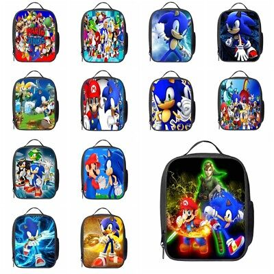 Uk Kids Sonic The Hedgehog Insulated Lunch Bag School Snack Box Travel Hand Bag 8 29 Picclick Uk