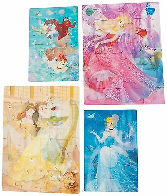 4 PACK Disney Princess 3D Puzzle Jigsaw Pack - Girls Kids Toy Gift Present