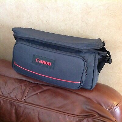 Vintage Canon Camera Canvas Shoulder Bag Carry Case Hold-all Padded Compartments