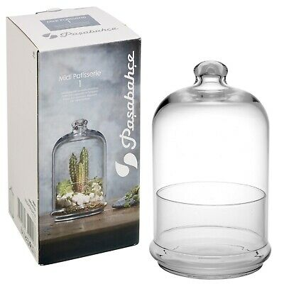 Cloche Glass Dome Jar Bell Pastry 20cm Decorative Stand Display For Food Plants