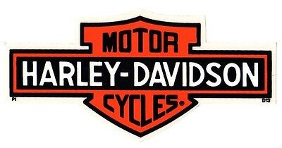 "6-1/4"" Genuine Harley Davidson Long Bar Shield ~ Outside Window Decal Sticker!"
