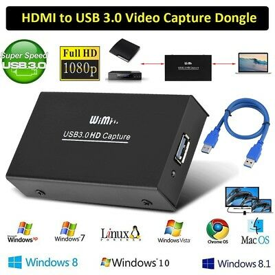 HDMI 1080P HD Video Capture Card USB 3.0 Device For Windows Mac Linux Streaming