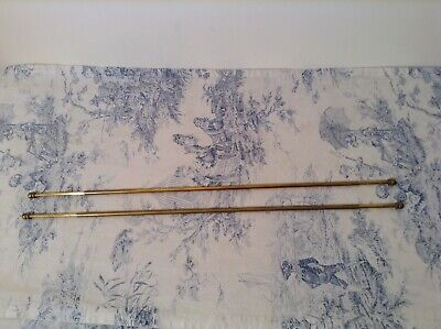 Pair Vintage French Extendable Cafe Curtain Rods (3768)