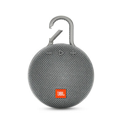 JBL Clip 3 Waterproof Portable Bluetooth Speaker (Gray)