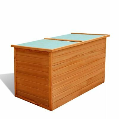 vidaXL Outdoor Garden Patio Storage Box Utility Tools Chest Shed Furniture Wood