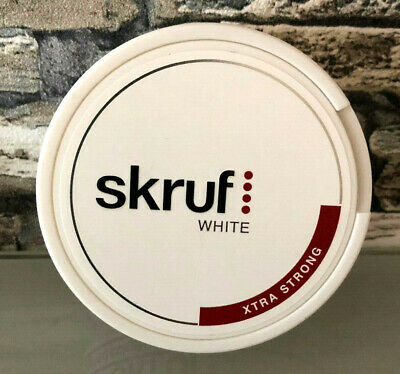 Skruf Skraw White Xtra Strong 5 Dosen Snus/Chewing Bags