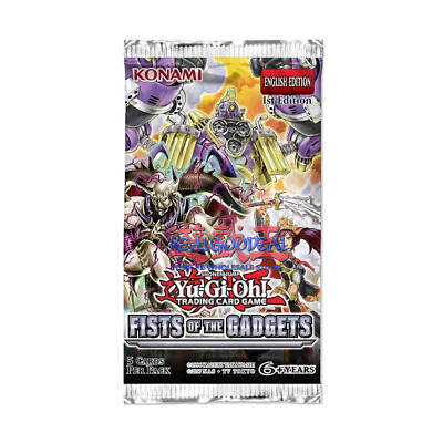 YuGiOh Fists of The Gadgets Booster Pack