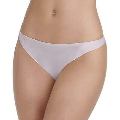 Size 6 Vanity Fair 18241 Nearly Invisible Thong Panties NEW Earthy Gray Silky