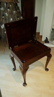 Beautiful 1951 Holder Brothers antique/vintage upholstered piano stool LEICS