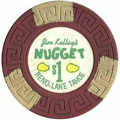 Jim Kelley's Nugget Casino Reno/Lake Tahoe NV $1 Chip 1960s