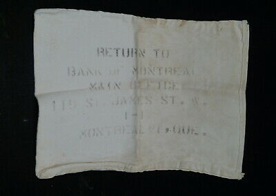 Canadian Bank Of Montreal Coin Money Sack Bag