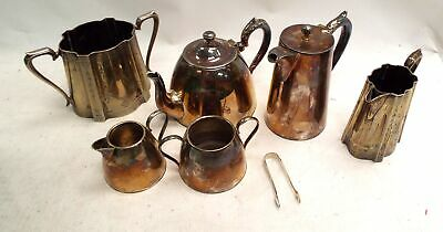 Selection Of 7 Vintage Stamped EPNS/ SILVER PLATE Items (Jugs, Pots, Etc) - M04