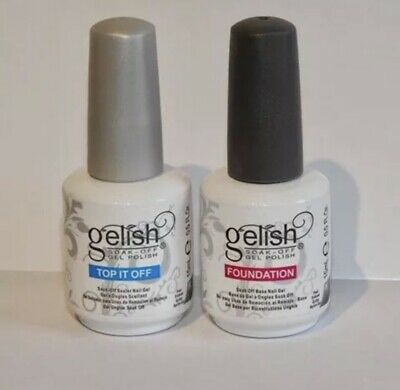 Gelish Harmony Top and Base Coat Gel Polish Foundation Base and Top it off NEW
