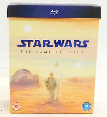STAR WARS: THE COMPLETE SAGA 9 Disc Sci-Fi BLU-RAY BOX SET - F23