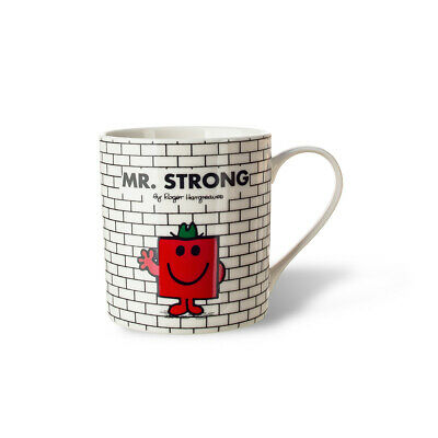 Mr Men Mr Strong  White Mug Bone China Gift Boxed
